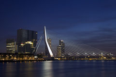 Erasmus Bridge in Rotterdam on the Nieuve-Maas River, Rotterdam,. Netherlands Stock Photos