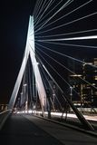 Erasmus Bridge in Rotterdam at night Stock Images
