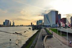 Erasmus Bridge and surrounding skyline in Rotterdam Stock Photo