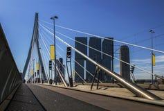 Erasmus brug in Rotterdam, Holland, Nederland Royalty-vrije Stock Afbeelding