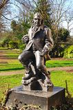 Erasmus Darwin statue, Lichfield, UK. Royalty Free Stock Photo