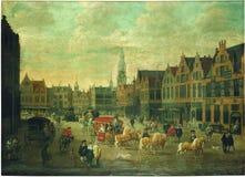 Erasmus De Bie - Meir in Antwerpen stockfoto