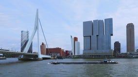 Erasmus most w Rotterdam, holandie zbiory wideo