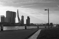 Erasmusbridge, Ρότερνταμ Στοκ Φωτογραφία