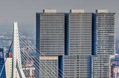 Free Erasmusbridge And De Rotterdam Building Royalty Free Stock Photo - 117061445