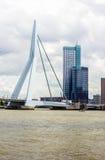Erasmusbridge e torre di Meuse a Rotterdam Fotografia Stock Libera da Diritti