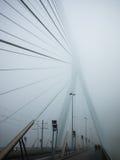 Erasmusbrug en la niebla Imagen de archivo