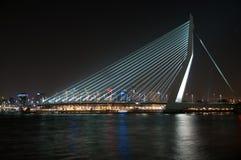 Erasmusbrug. Night view of the erasmus bridge Royalty Free Stock Image