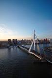 Erasmusbrug. View of Erasmusbridge in Rotterdam from 22nd floor (The Netherlands Stock Image