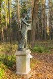 Erato雕塑在Pavlovsk公园 库存图片