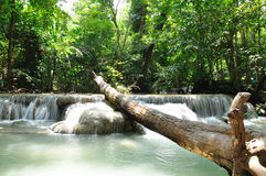 Eravan Waterfall, Kanchanabury, Thailand. For background Royalty Free Stock Image