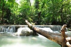 Eravan Waterfall, Kanchanabury, Thailand Royalty Free Stock Image