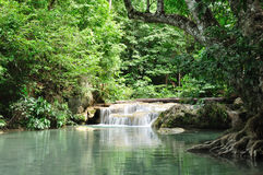Eravan Waterfall, Kanchanabury, Thailand. For background Stock Image