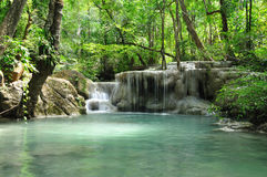 Eravan Waterfall, Kanchanabury, Thailand. For background Stock Photo
