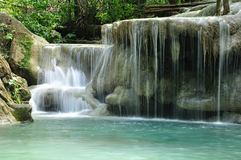 Eravan Waterfall, Kanchanabury, Thailand. For background Royalty Free Stock Images