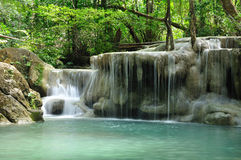 Eravan Waterfall, Kanchanabury, Thailand. For background Royalty Free Stock Photography