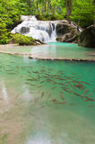 Eravan Waterfall, Kanchanabury, Thailand Royalty Free Stock Photos
