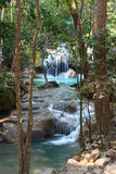 erawan泰国瀑布 图库摄影