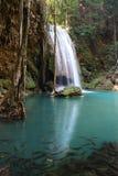 erawan泰国瀑布 库存图片