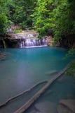 Erawan瀑布在泰国 免版税库存图片