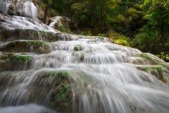erawan瀑布 图库摄影