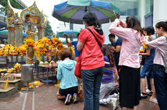 Erawan świątynia, Hinduska świątynia w Bangkok Obraz Royalty Free