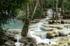 erawan водопад Стоковая Фотография RF