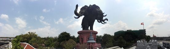 Erawan elephant museum Stock Images