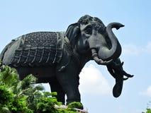 Erawan Elephant Status with blue sky (Horizontal) Royalty Free Stock Photo