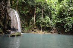 Erawan falls Stock Photography