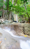 Erawan, the famous waterfall in national park Thailand Royalty Free Stock Photography