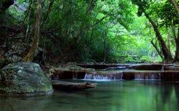 erawan kanchanaburi泰国瀑布 免版税库存图片