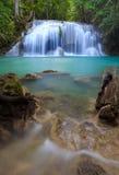 erawan kanchanaburithailand vattenfall Royaltyfri Bild