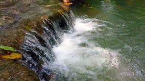 Erawan national park or Erawan waterfall at Kanchanaburi province in Thailand. travel vacation trip. 4K stock video