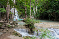 Erawan National Park in Thailand Stock Photography