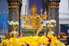 Erawan relikskrin i Bangkok, Thailand Arkivbild
