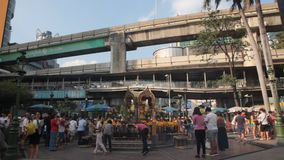 Erawan shrine in Bangkok  stock video footage