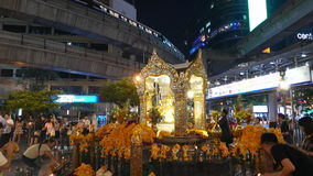 Erawan Shrine, Ratchaprasong, Bangkok, Thailand stock video
