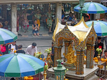 Erawan shrine. At the Ratchaprasong intersection in Pathum Wan District royalty free stock image