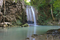 Erawan siklawa, Erawan park narodowy w Kanchanaburi, Tajlandia Obraz Royalty Free