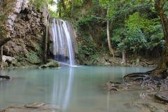Erawan siklawa, Erawan park narodowy w Kanchanaburi, Tajlandia Obrazy Stock