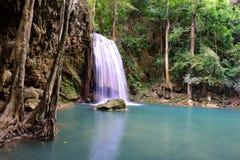 Erawan siklawa, Tajlandia Zdjęcia Stock