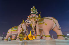 Erawan statue stock photography
