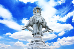 Erawan stone on bluesky Stock Image