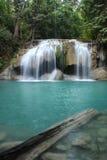 erawan thailand vattenfall royaltyfri bild