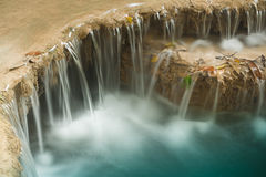 Erawan vattenfall. arkivbilder