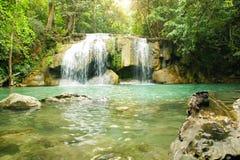 Erawan vattenfall Royaltyfri Fotografi