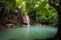 Erawan vattenfall Fotografering för Bildbyråer