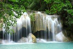 Erawan vattenfall, Thailand Fotografering för Bildbyråer