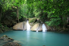 Erawan Wasser-Fall Lizenzfreie Stockfotos